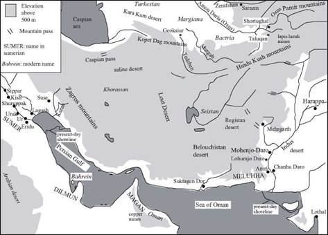 The Indus and the Harappa civilization Bactria and the Margiana, on the banks of the Oxus