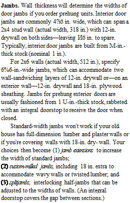 Installation in a nutshell library builder for Door jamb size for 2x6 walls