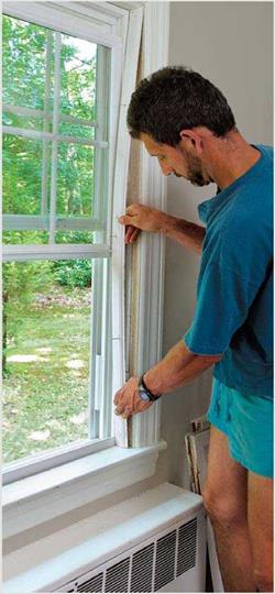 Install The New Window With Expanders Shims And Screws