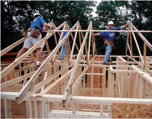 Shed a teer austin texas wood roof systems assurance for Cost to install trusses