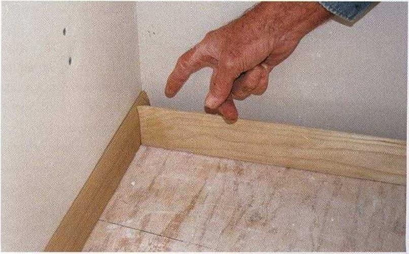 Install the baseboard trim
