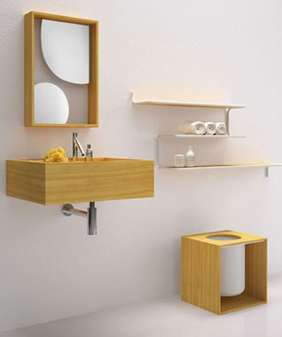 Harmony of simplicity in a bathroom