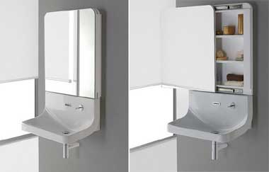 Mirror and sink – an unusual hybrid