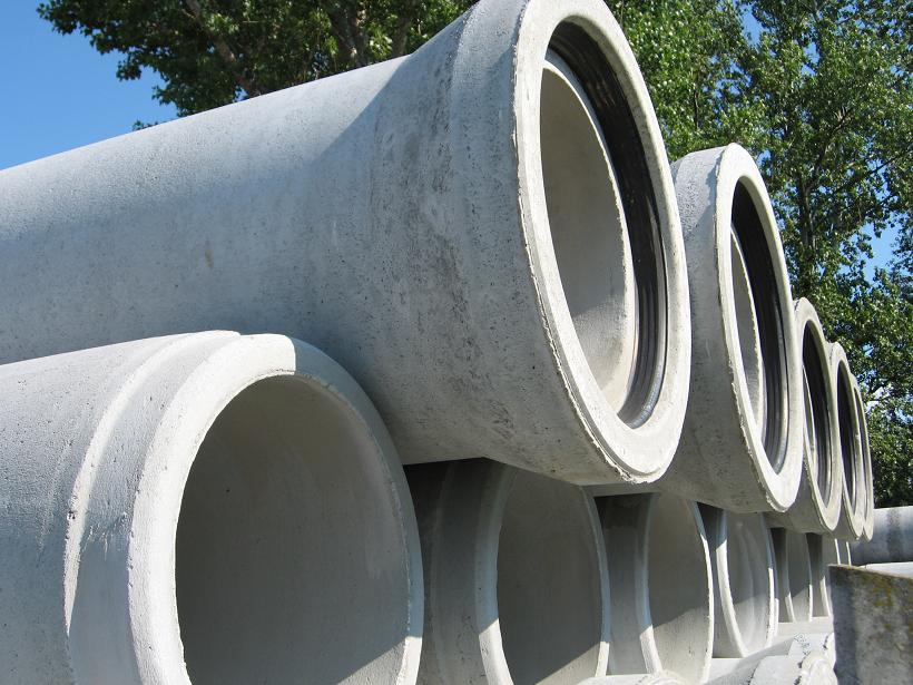 Ferro-concrete pipes
